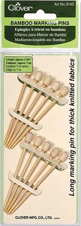 10 épingles à tricot en bambou