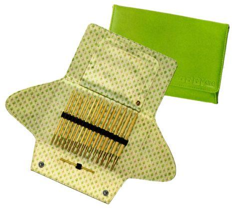 Addi Click Bamboo - Kit aiguilles à tricoter circulaires
