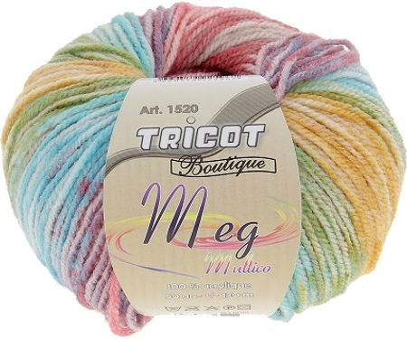 Sachet de 10 pelotes de laine Meg Multico