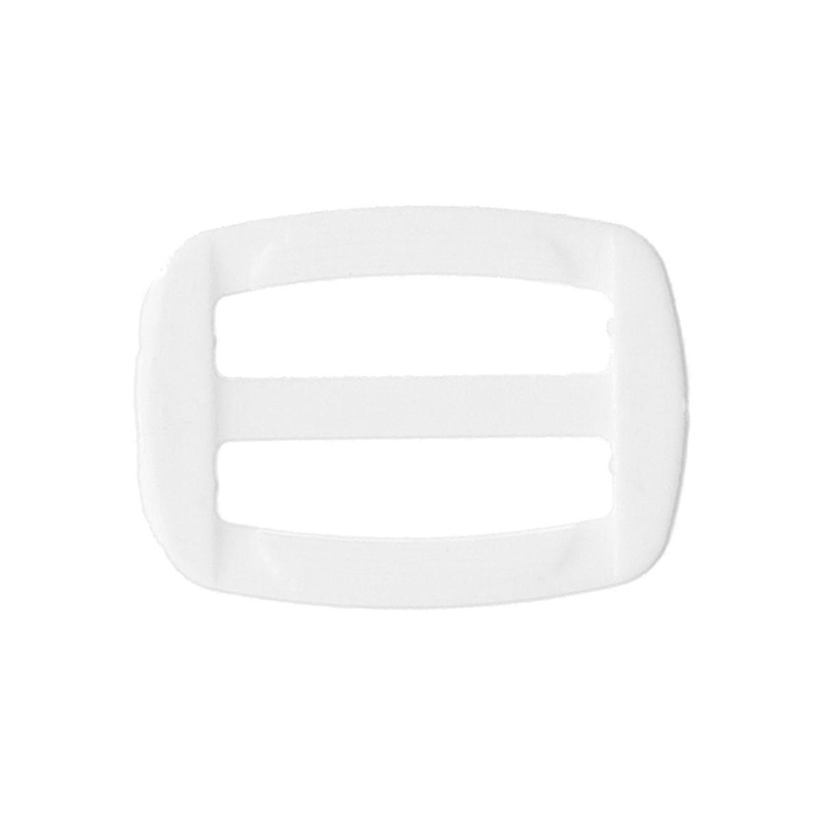 Boucle coulissante plastique blanc 25 mm