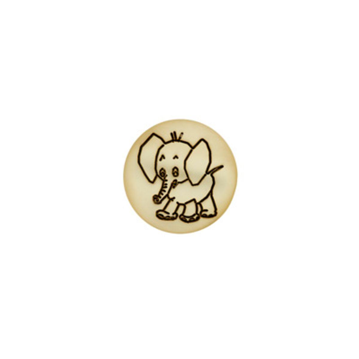 Bouton éléphant nacre jaune