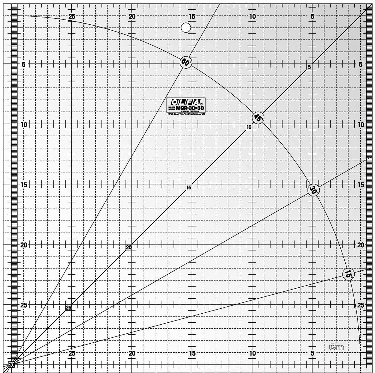 Règle de matelassage Olfa 30 cm x 30 cm