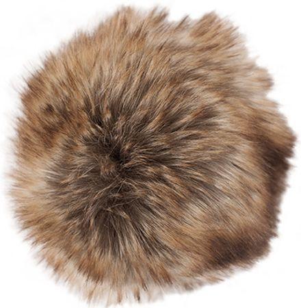 Pompon imitation fourrure 10 cm - Premium brun