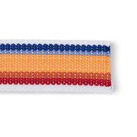 Sangle pour sacs polyester - Blanc multicolore