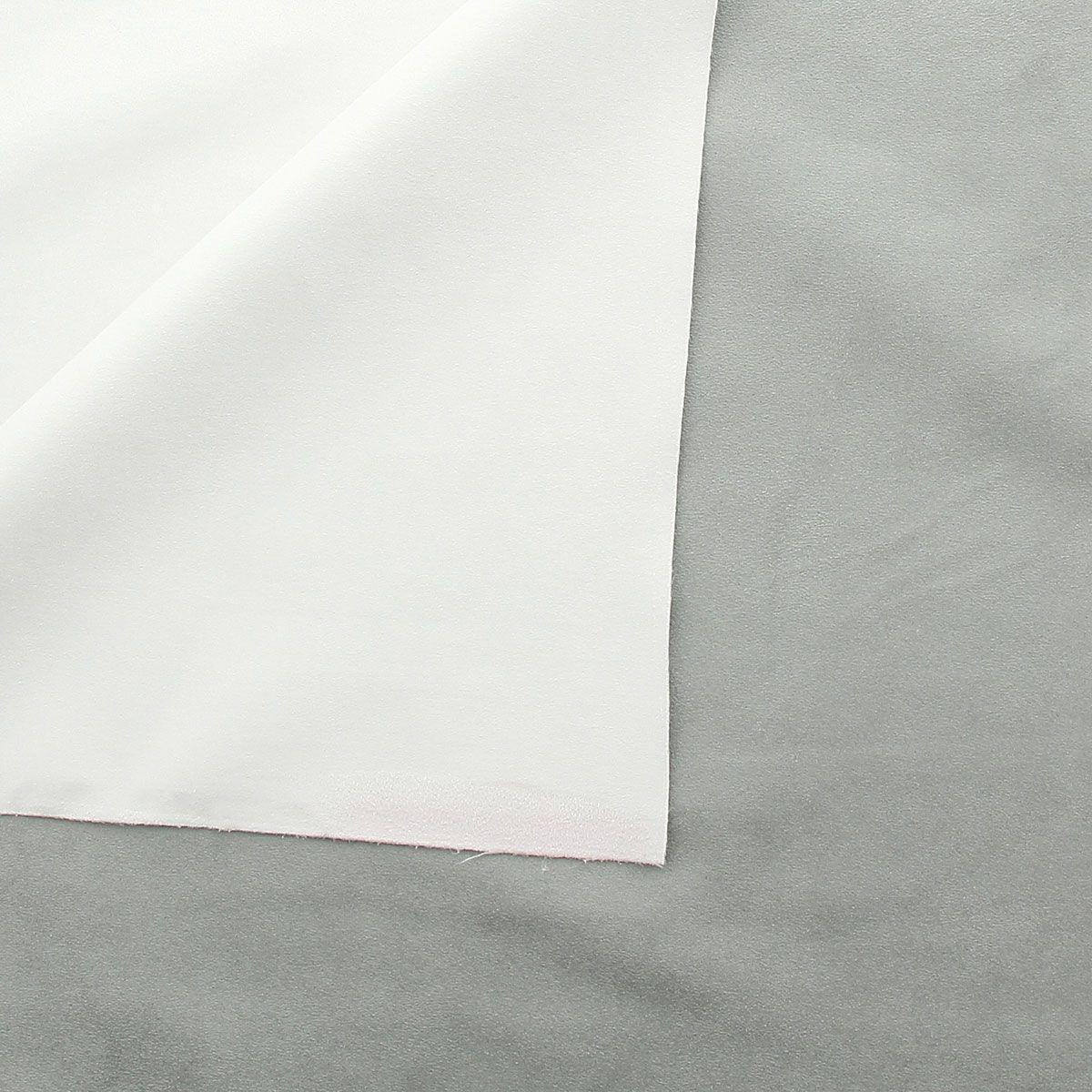 Tissu occultant suédine multicolore - Blanc/Gris