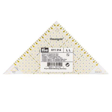 Règle triangle rectangle Omnigrid 1/2 carrés