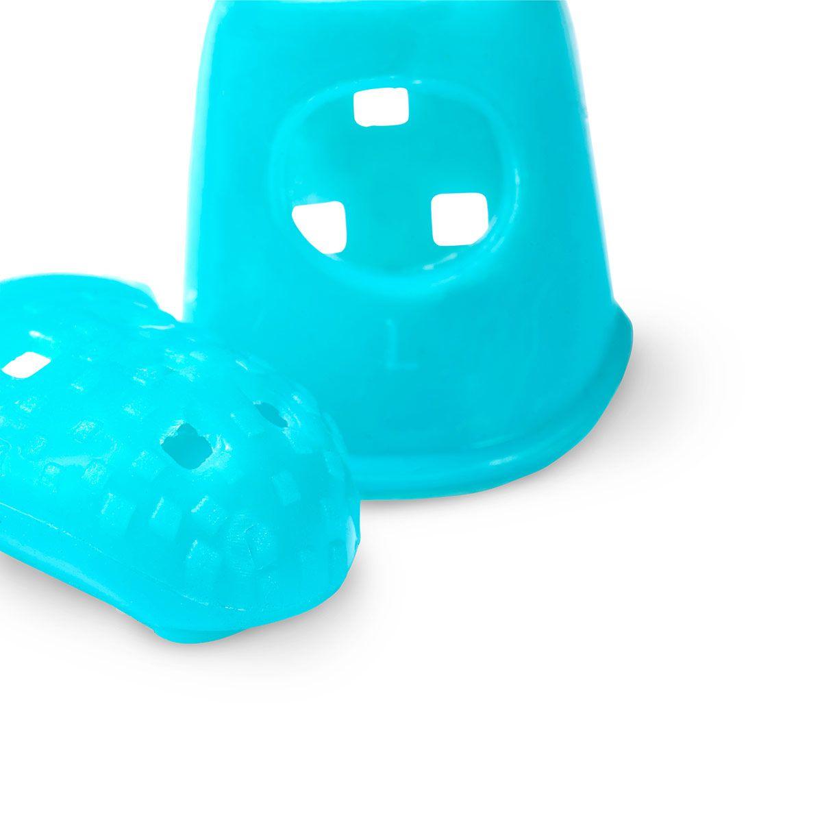 Tires aiguille forme dé à coudre - Bleu turquoise