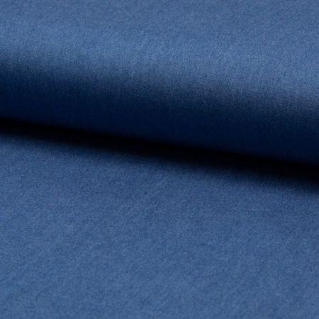 Tissu tencel chambray - Bleu moyen