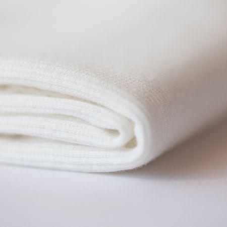 Tissu bord côte See You at Six - Blanc cassé