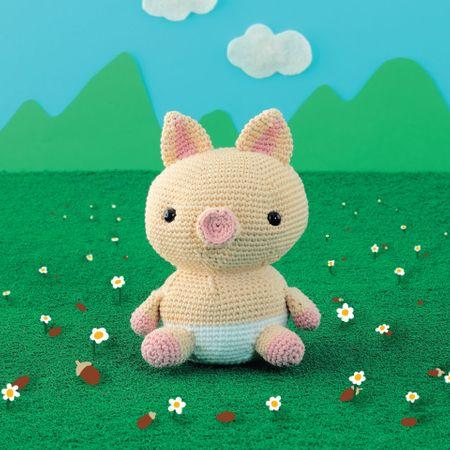 Kit crochet amigurumi - Cochon