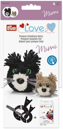 Gabarit pour pompons - Chat Mimi