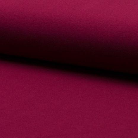 Tissu jersey coton - Bordeaux