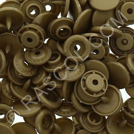 Sachet de 25 pressions résine KAM ronds - Bronze