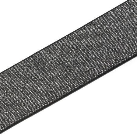 Elastique Color noir et argent 50 mm - Au mètre