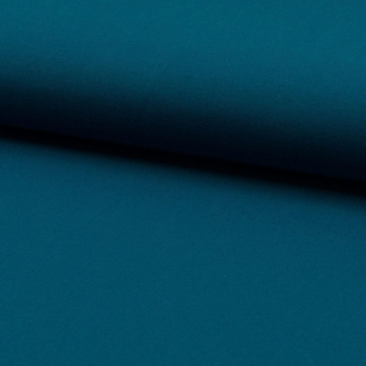 Tissu coton uni - Bleu pétrole