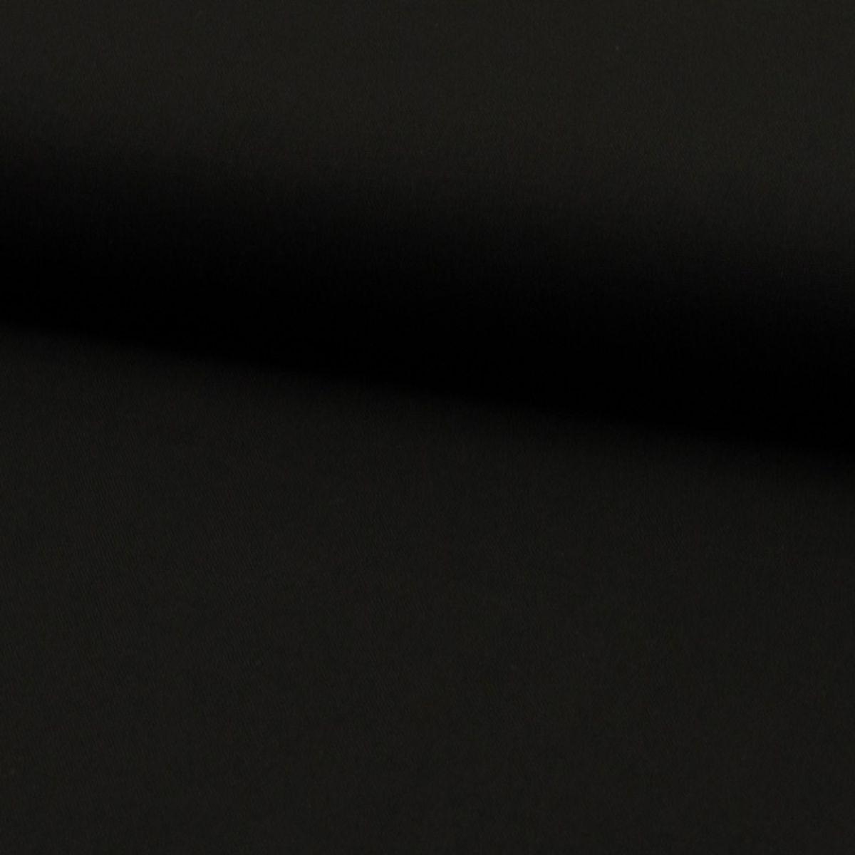 Tissu coton uni - Noir