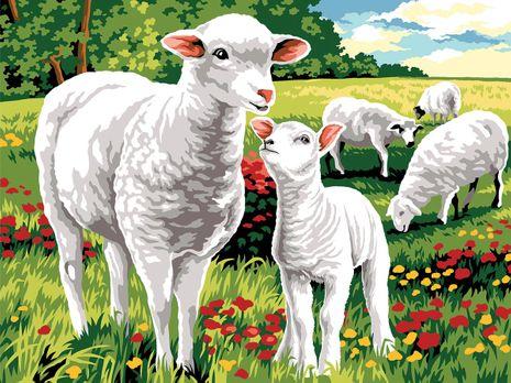 Kit canevas pénélope Margot de Paris - Mouton au champ