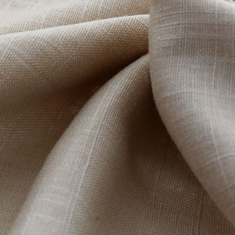 Tissu lin viscose - Beige