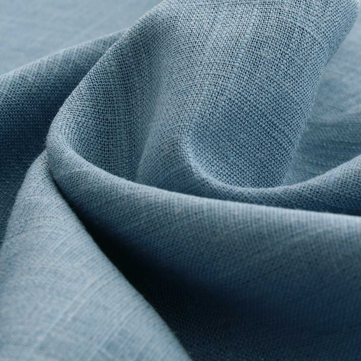 Tissu lin viscose - Bleu vintage clair