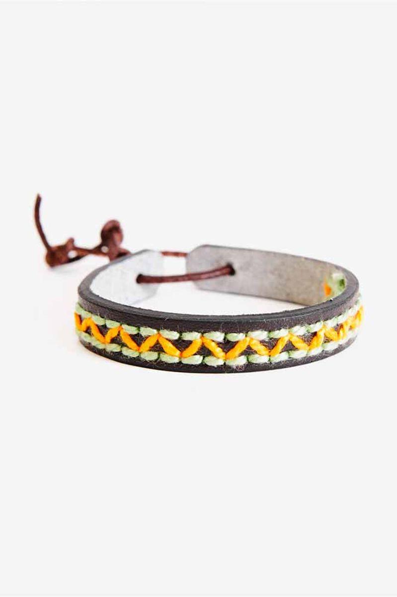 Bracelet en simili cuir à broder DMC - 16 cm