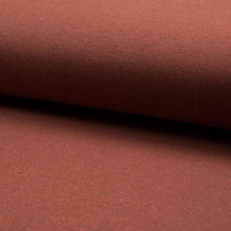 Tissu sweat pailleté - Terracotta