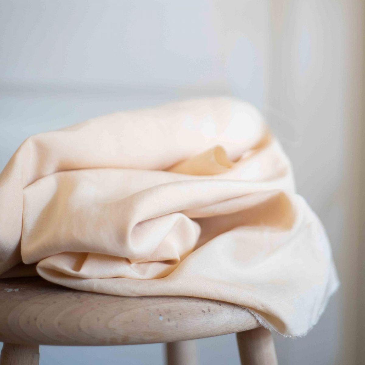 Tissu tencel et lin - Ivoire
