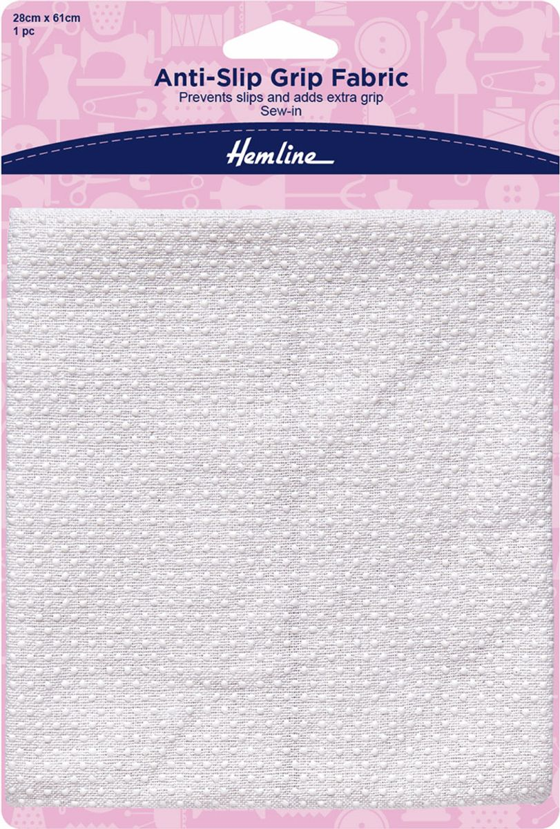 Tissu antidérapant à coudre pour pyjamas et chaussons - 28 cm x 61 cm