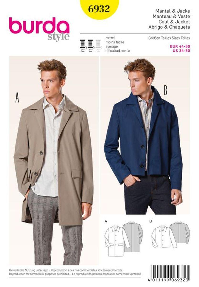 Patron de manteau et veste - Burda 6932