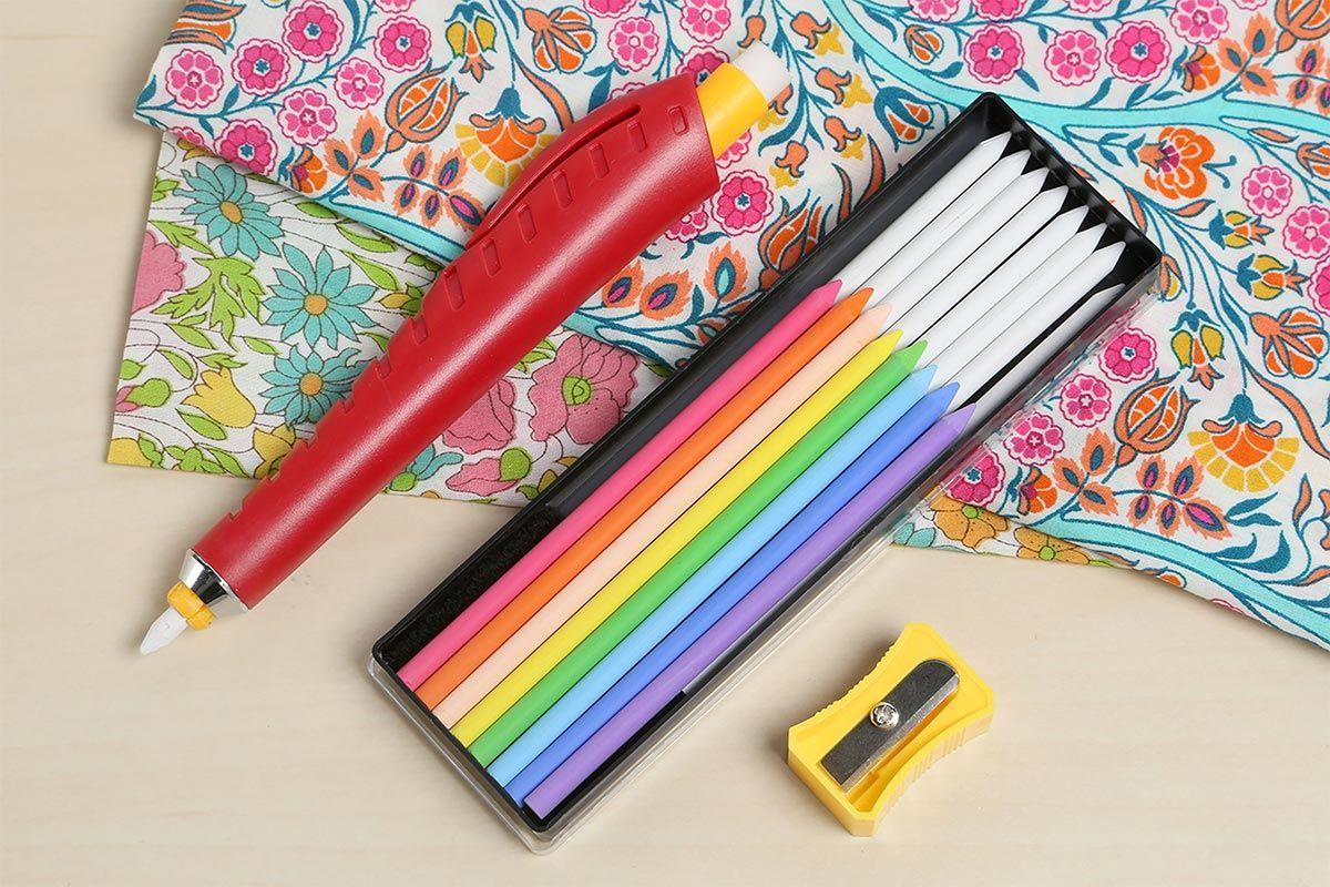 Crayon craie porte mine + craies + taille crayon