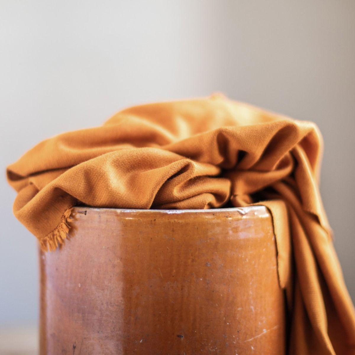 Tissu viscose lux interlock - Curry